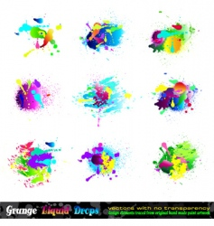 splash grunge design elements vector image