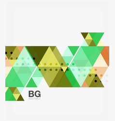 triangles abstract background vector image vector image