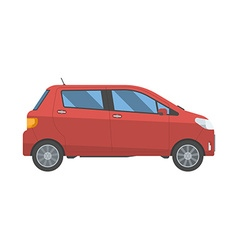 Hatchback new red family car isolated on white vector image