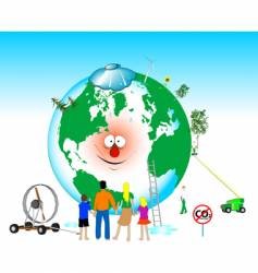 heal the world vector image vector image