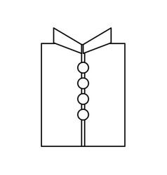 tshirt male isolated vector image