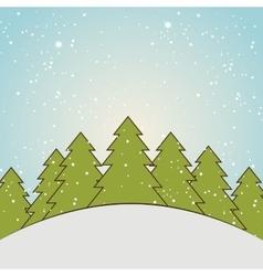 winter season landscape vector image