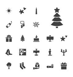 22 christmas icons vector