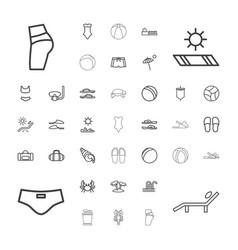 37 beach icons vector