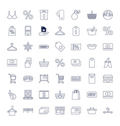 49 sale icons vector