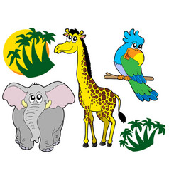 african animals collection 3 vector image