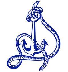 anchor symbol in blue color vector image
