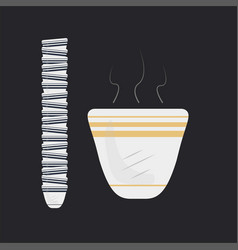 Arabic coffee cups traditional cup traditional vector