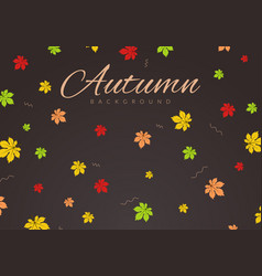 autumn dark background with leaves vector image