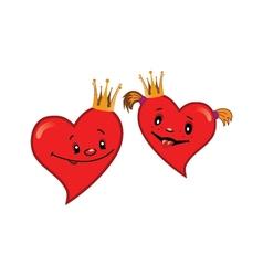 Baby cartoon hearts vector