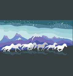 Background with horses vector