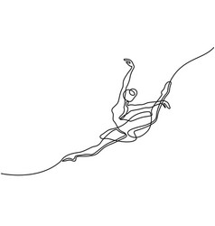 Ballet dancer ballerina vector