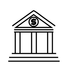 Bank building architecture vector