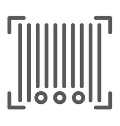 barcode line icon scanner and identification vector image