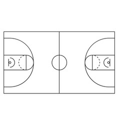 basketball arena white and black background vect vector image