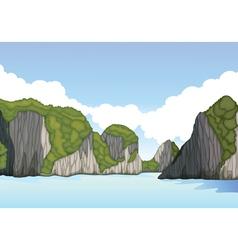 beautiful mountain landscape vector image