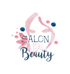 beauty salon logo label for hair or beauty studio vector image