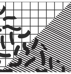 black and white stripe checkered geometric vintage vector image