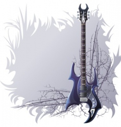 Black guitar vector