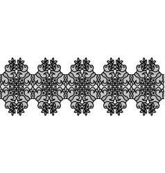 black lace border vector image