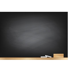 blackboard background chalk and blackboard eraser vector image