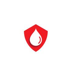 Blood ilustration logo vector