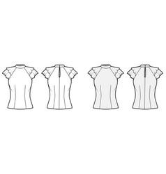 blouse technical fashion set vector image