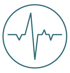 blue heartbeat icon isolated on background modern vector image