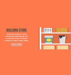 building store banner horizontal concept vector image