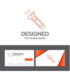 Business logo template for torch light flash vector