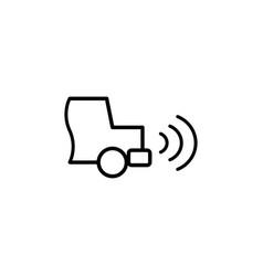 car parking radar icon vector image