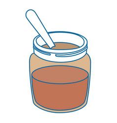 Chocolate cream bottle icon vector