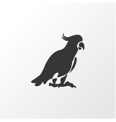 Cockatoo icon symbol premium quality isolated vector