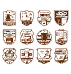 Coffe icons cafeteria and cafe drinks signs vector