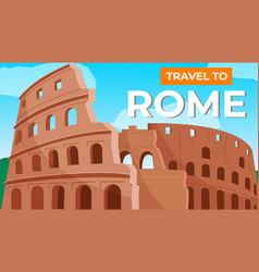 coliseum in rome travel to italy italian vector image