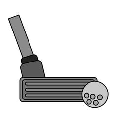 Color image cartoon closeup golf club and ball vector
