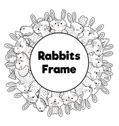 Coloring book style frame with place for your vector