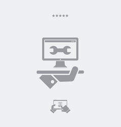 computer assistance services - web icon vector image