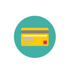 Credit card - concept colored icon in flat graphic vector