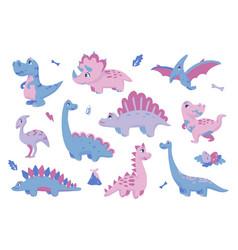 Cute dinosaurs adorable dino clipart extinct vector