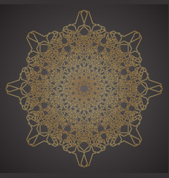 decorative pattern geometric ornament vector image