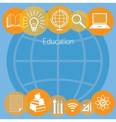 Education e-learning icons background vector