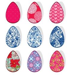 Egg set ornament 380 vector