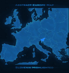 europe abstract map slovenia vector image
