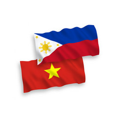 Flags philippines and vietnam on a white vector