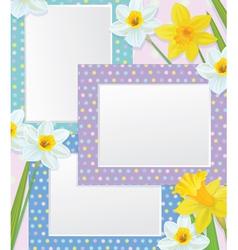 Frames flowers vector