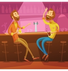 Friends In The Bar vector