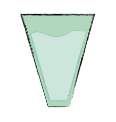 Glass with water vector