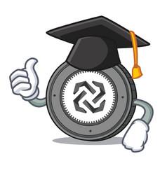 graduation bytom coin character cartoon vector image