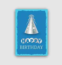 happy birthday banner isolated on grey background vector image